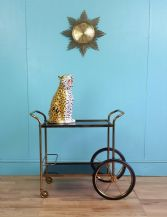 Vintage copper drinks trolley - SOLD